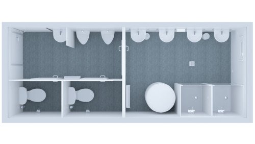 Kontener Sanitarny Standard Mieszany