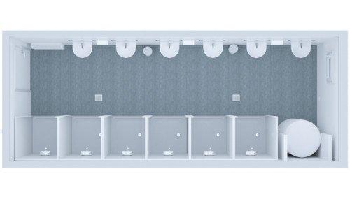 Kontener Sanitarny Standard Prysznicowo – Umywalkowy