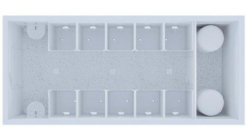 Kontener Sanitarny Premium 10 Prysznicy / 2 Umywalki