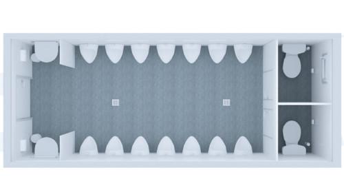 Kontener Sanitarny Standard Pisuarowy