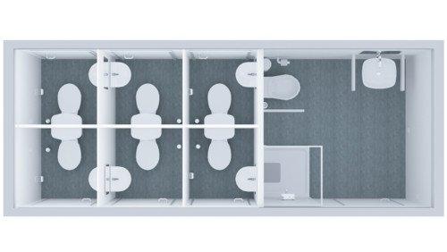 Kontener Sanitarny Standard 6wc + NS