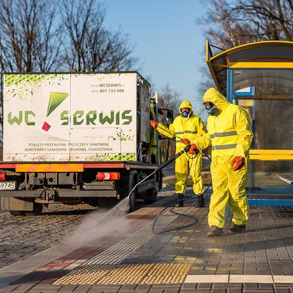 czyste miasto usługa dezynfekcji
