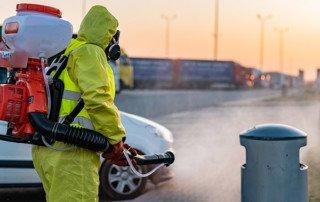 dezynfekcja ulic i chodników wykonywana przez firmę WC Serwis
