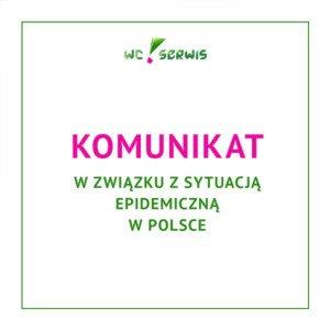 Komunikat wzwiązku zsytuacją epidemiczą wPolsce