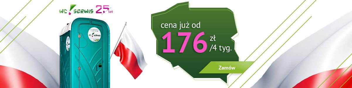 toaleta przenosna za176 złotych na4 tygodnie